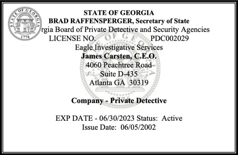Atlanta Private Investigator