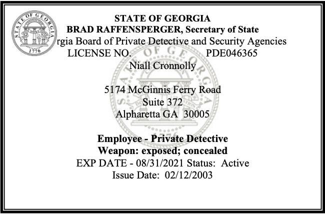 Atlanta Private investigator near me