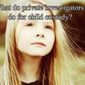 what do private investigators do for child custody