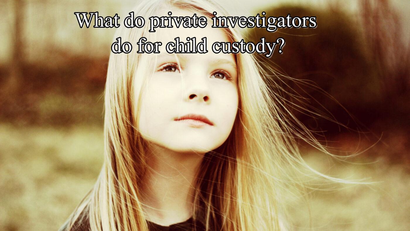 What do private investigators do for child custody?