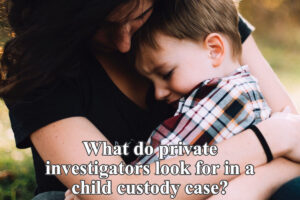 what do private investigators look for in a child custody case