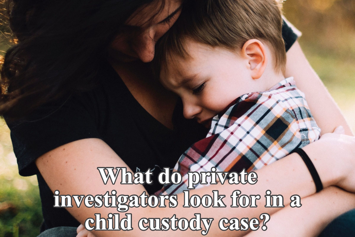 What do private investigators look for in a child custody case?